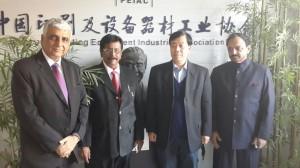 L – R Mr. Anil Arora, President – Print-Packaging.com (P) Ltd, Mr. Dev Nair, President – All India Federation of Master Printers (AIFMP), Mr. Lu Chang'an, Secretary General - Printing Equipment Industries Association of China (PEIAC) & Mr. Kamal Chopra, Chairman, International Relations, AIFMP