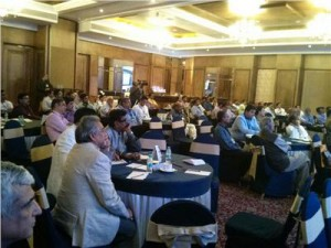 Dev Nair, president of AIFMP and A K Sinha, director (printing), Directorate of Printing, Government of India in the audience