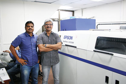 Arrow Digital installs SurePress L-4033AW at Trigon Digital Solutions new Unit @ Mumbai