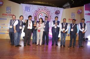 The Print Summit Team with Avijit Mukherjee, CEO & Anjana Saha, National Sales Manager, Ricoh India