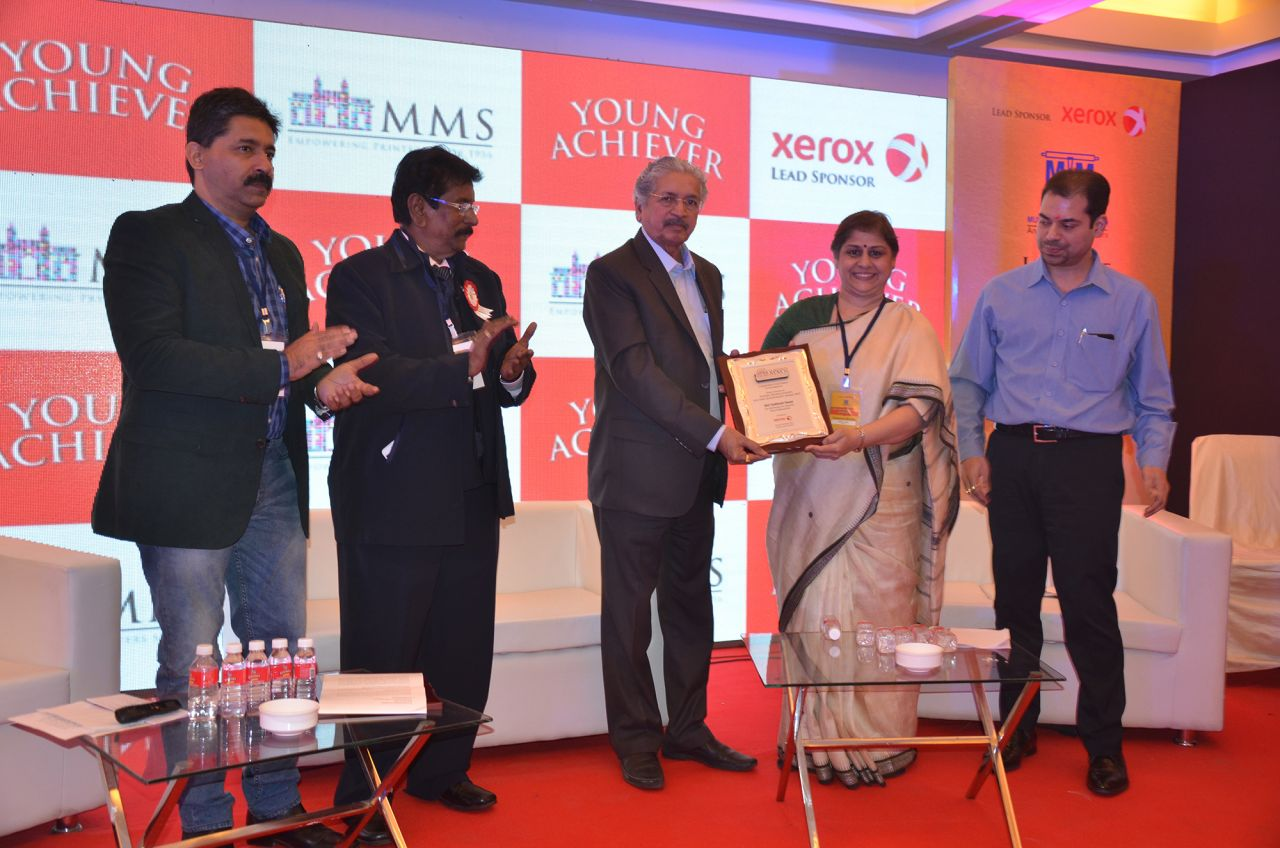 Maharashtra's Minister of Industries presents lifetime honour to Gautham Pai of Manipal Group