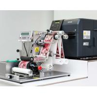 Semi-Automatic Label Print-and-Apply System for Bottles