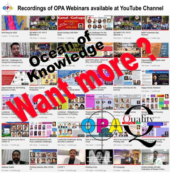 'Ocean Of Knowledge' For PRINTERS By OPA